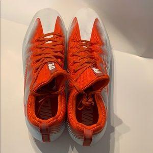 Men's Nike football cleats orange & white